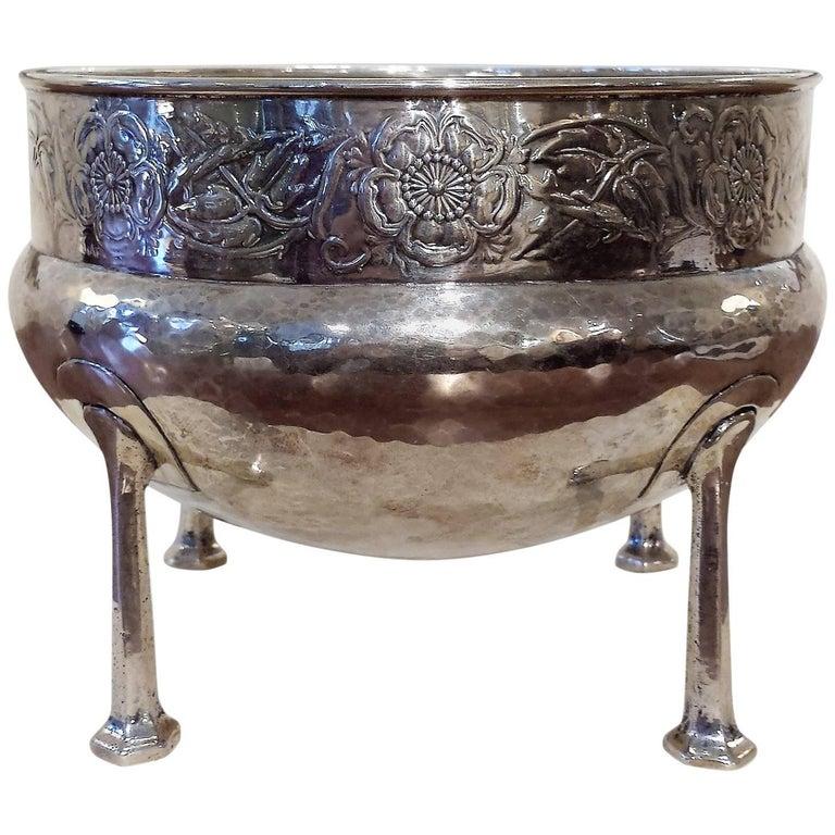 Art Nouveau Silver Rose Bowl by A E Jones