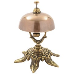 Victorian Brass and Bronze Counter Bell, circa 1890