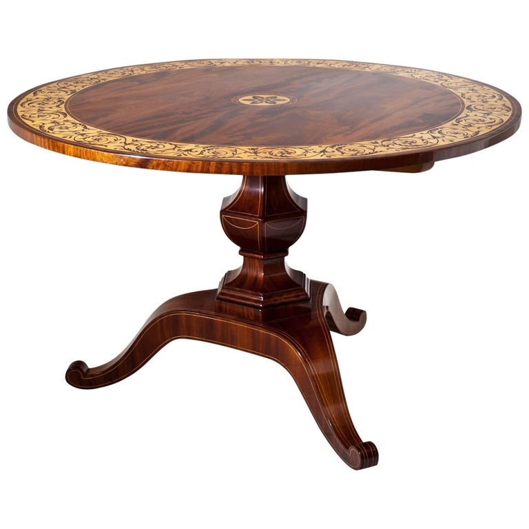 Biedermeier Salon Table, Saxony, 1830s For Sale