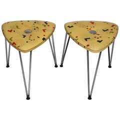 Mid Century Modern Vintage Stools by Talos, 1950s, Vienna Set of Two