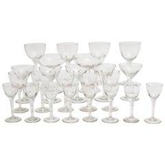 Jugendstil Clear Glassware circa 1910 Austria