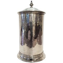 Arts and Crafts Movement Silver lidded Pot with liner by the Guild of Handicraft