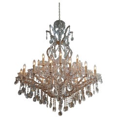 Large Maria Theresia Chandelier with 25 Lights, Cage Model, 21st Century