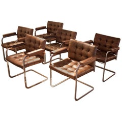 Set of four De Sede Leather Chairs RH-305/02
