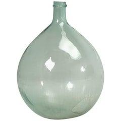 Antique French Demijohn Glass Bottle