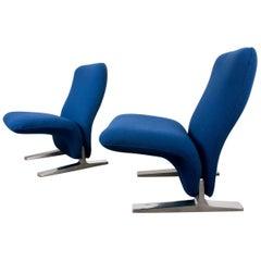 Postmodern Concorde Lounge Chairs by Pierre Paulin Voor Artifort, 1960s