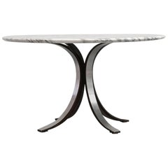 Dining Table by Osvaldo Borsani Carrare Marble Itaian Design Vintage Techno