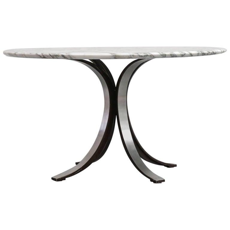 Dining Table by Osvaldo Borsani Carrare Marble Itaian Design Vintage Techno