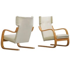 Pair of Lounge Chairs Model 401 by Alvar Aalto, 1935 Finland Design