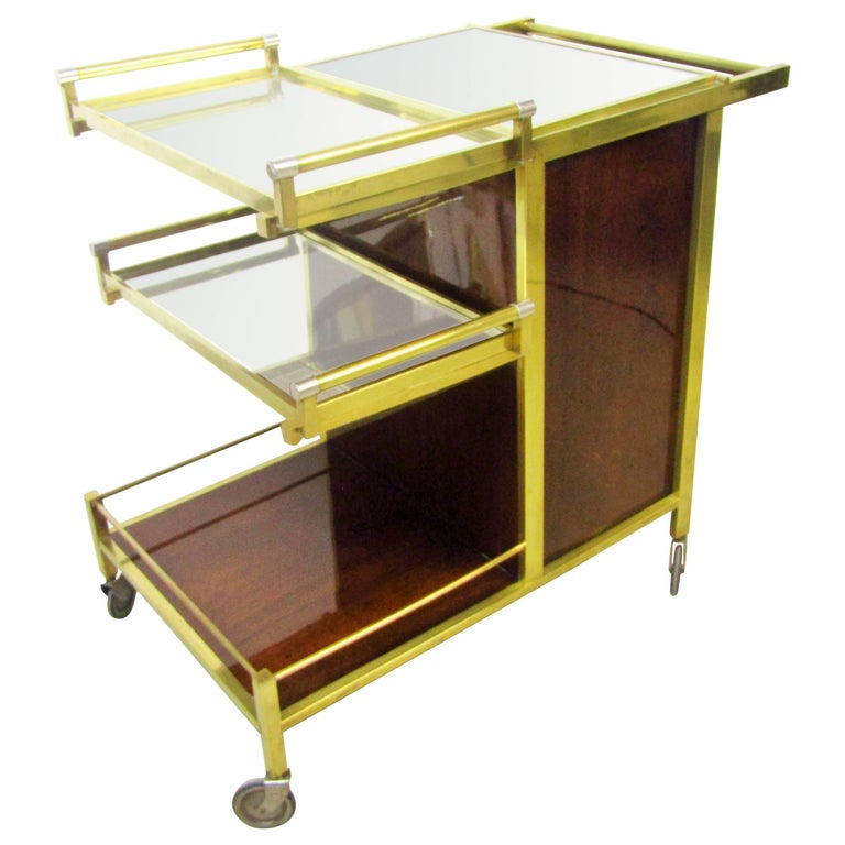 Art Deco Bar Cart by Jacques Adnet, France, 1930