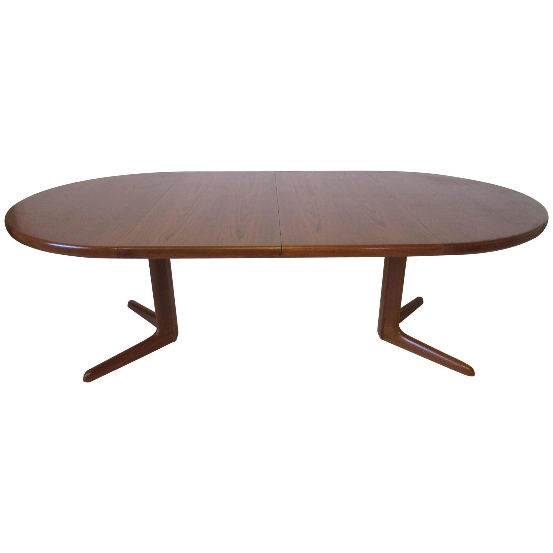 Eric Buck Teak Wood Dining Table Made In Denmark