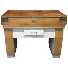 1960s Block Butchers Kitchen Island