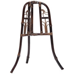 Chinese Folding Bamboo Hat Stand