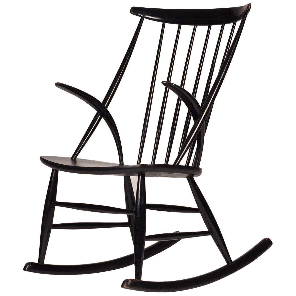 Scandinavian Modern Rocking Chair by Illum Wikkelsø, 1960s