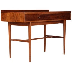 Mid Century Robert Heritage Desk or Console Table in Rosewood and Teak