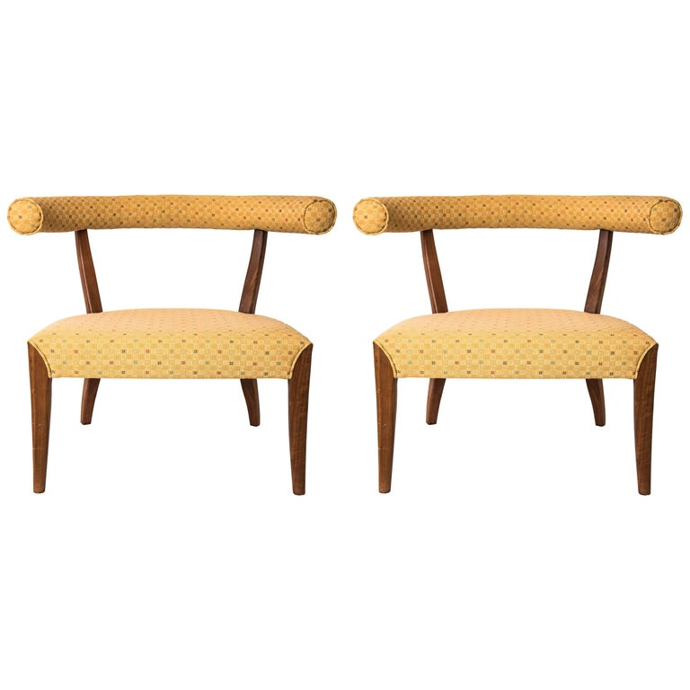 pair of scandiavian sausage armchairs for sale at 1stdibs
