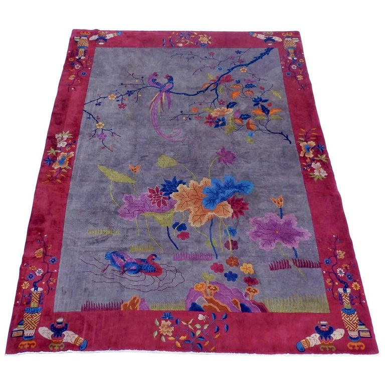 Nichols Chinese Art Deco Rug For Sale