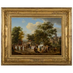 """Procession of the """"Fête Dieu"""" in the Countryside, J.F. Demay"""
