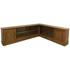1940s Corner Sideboard in Oak