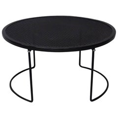 Round Woodard Wrought Iron Coffee Table