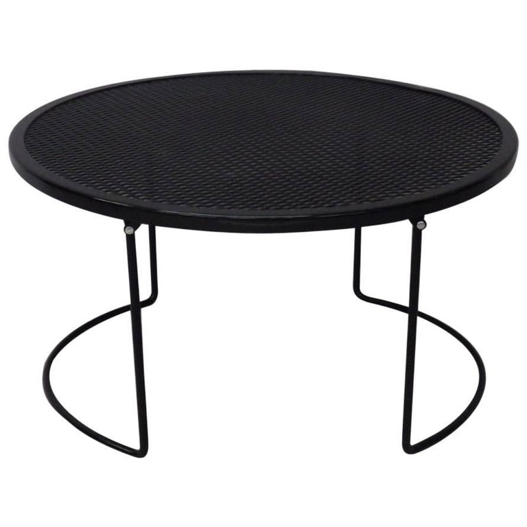 Round Woodard Wrought Iron Coffee Table For Sale At 1stdibs