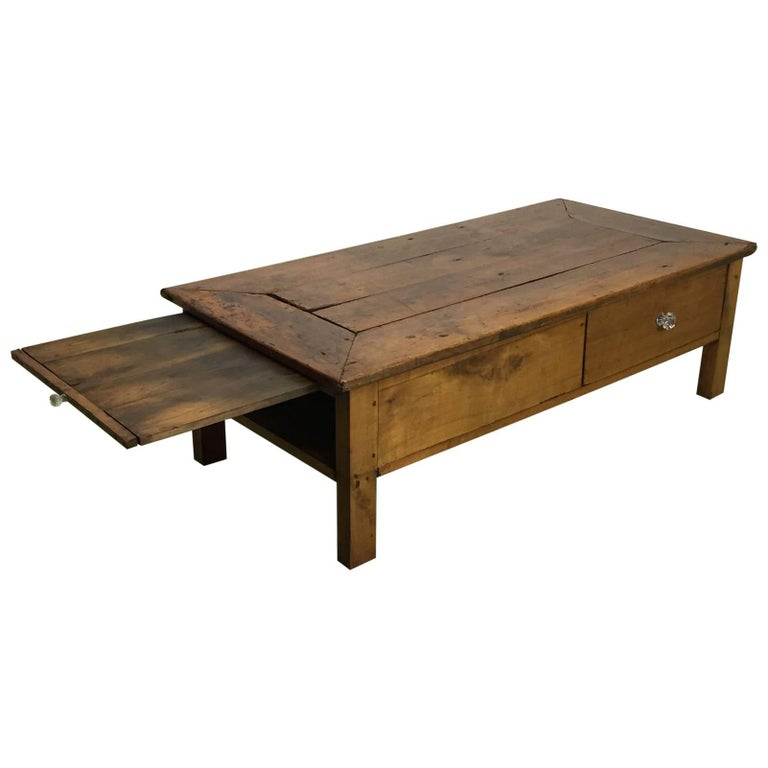 19th Century Fruit Wood Coffee Table At 1stdibs