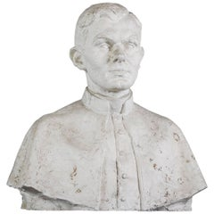 Early 20th Century Plaster Bust of Gentleman