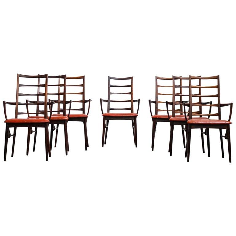 Danish Chairs Niels Kofoed Scandinavian Rosewood Dinning Armchairs Design