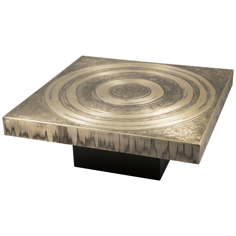 Acid Etched Aluminum Coffee Table By Marc Du0027Haenens, Belgium, ...