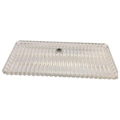Crystal Glass Vanity or Cake Tray by Walther Glass, W. Germany, circa 1970