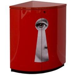 Fornasetti Corner Cabinet, Serratura, Red