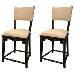 Pair of Napoleon III Side Chairs, France, 19th Century