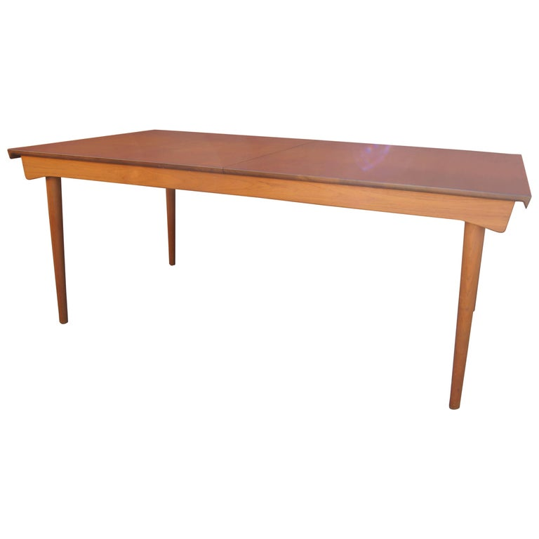 Teak Dining Table with Extensions by Finn Juhl for France & Son