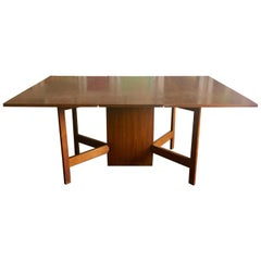 George Nelson Walnut Gate-Leg Dining Table by Herman Miller