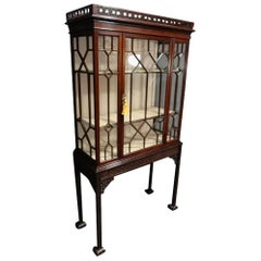 Outstanding 19th Century, Chippendale Style Mahogany Display Cabinet