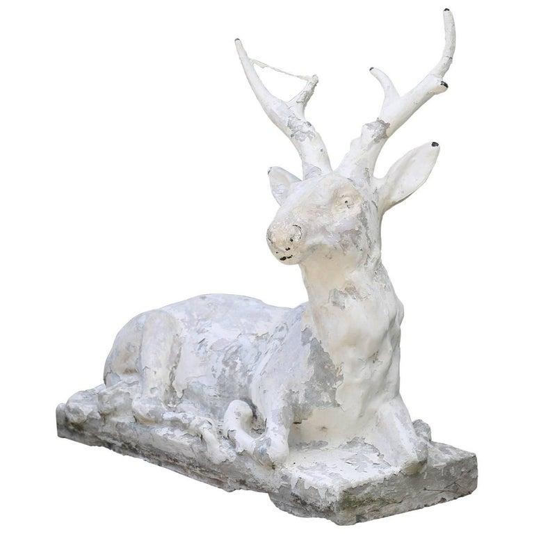 Cast Stone Garden Deer  For Sale
