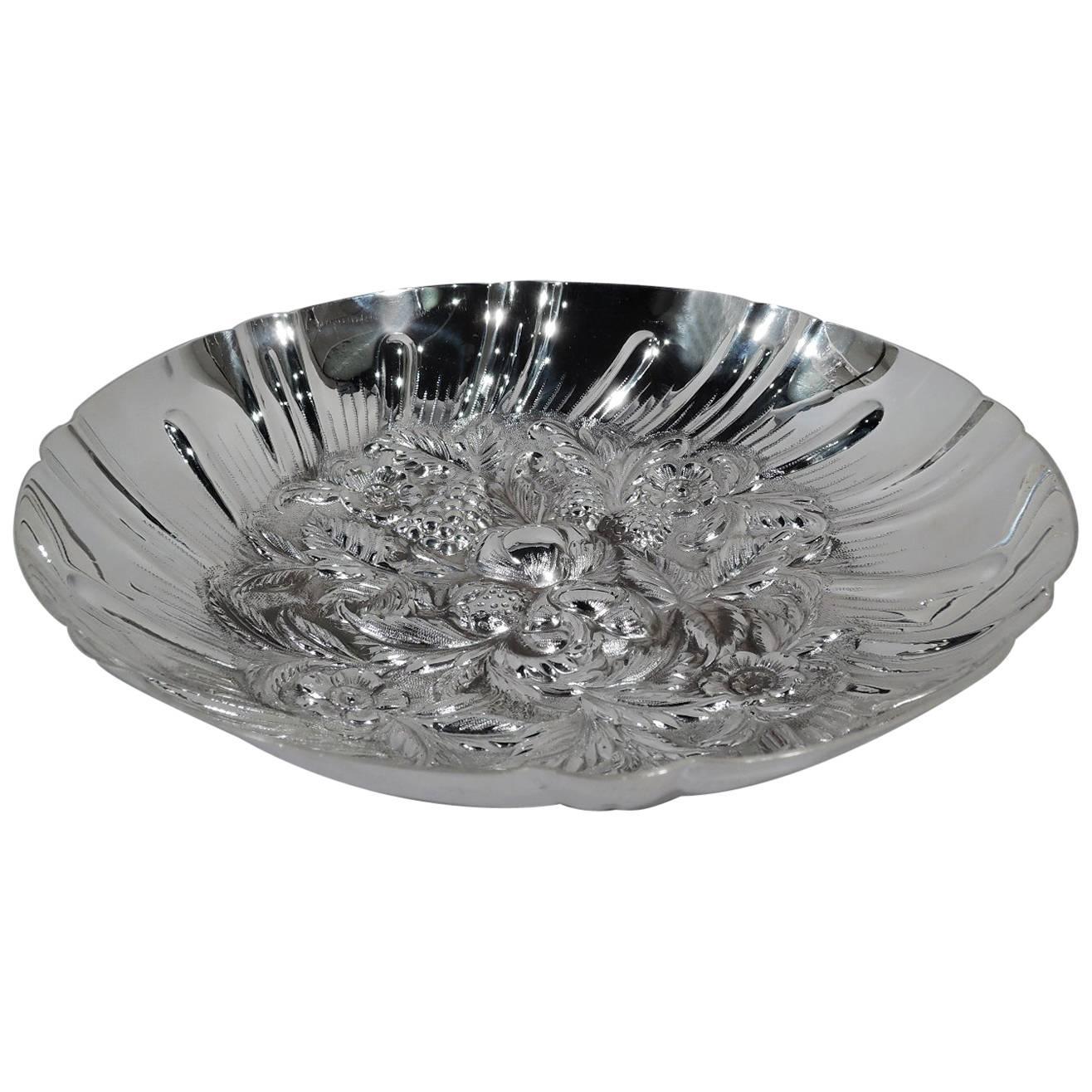 Kirk Sterling Silver Modern Fruit Bowl