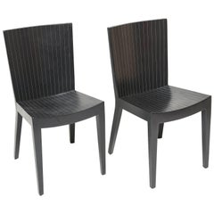 Pair of Karl Springer Leather JMF Chairs