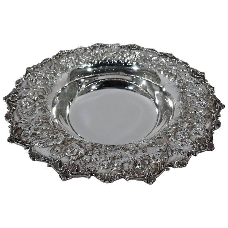 Kirk Repousse Sterling Silver Footed Bowl