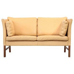 Danish Sofa Beige Two-Seat, 1970s