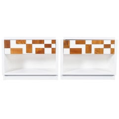 Brutalist Mosaic Nightstands by Lane