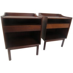 Peter Hvidt Nightstands in Teak for John Stuart