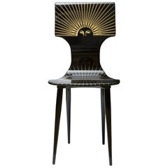 Fornasetti Chair Sole Gold/Black