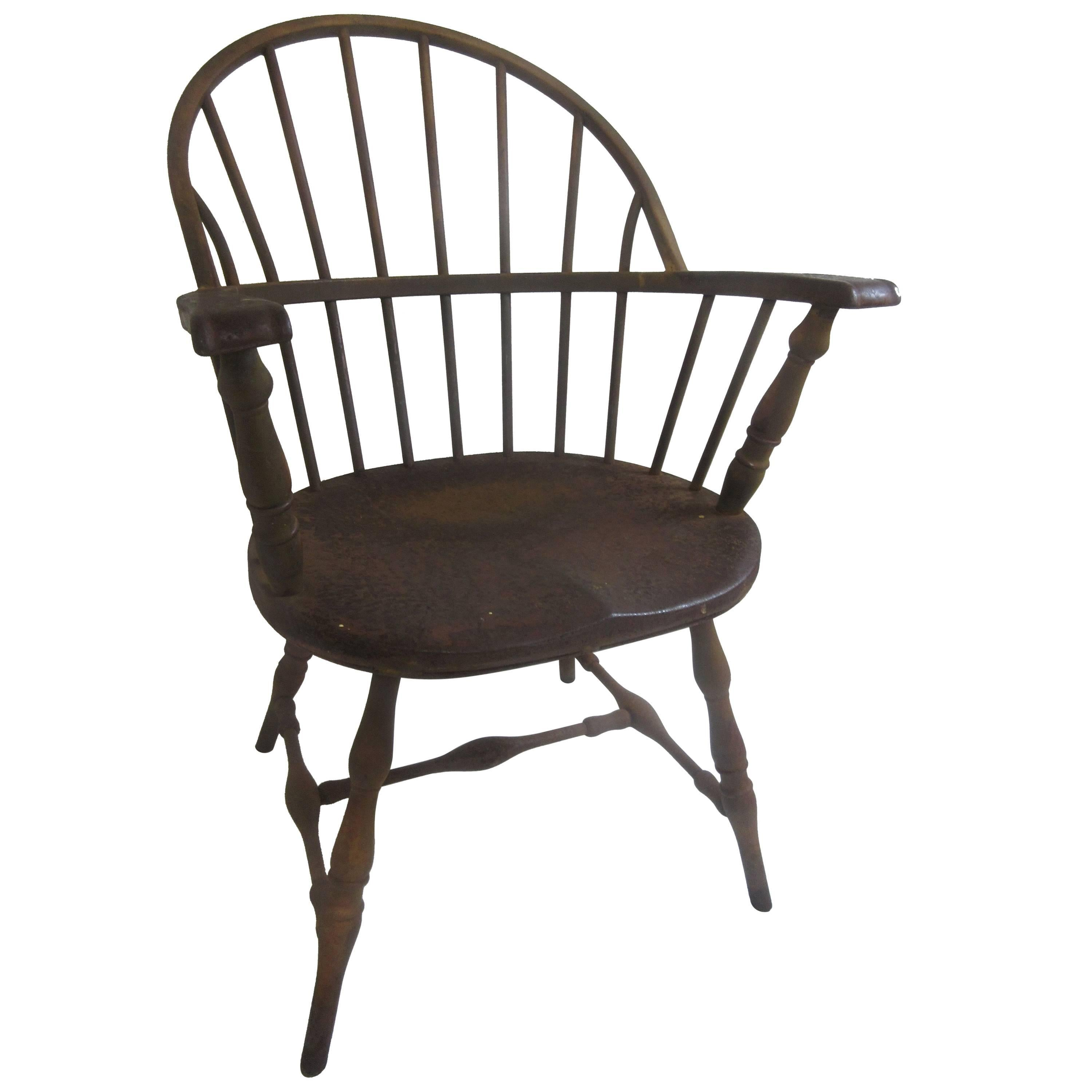windsor chair from library in steel by canton art metal company