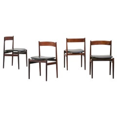 Set of Four Chairs Gianfranco Frattini fo Cassina, 1960s, Midcentury, Italian