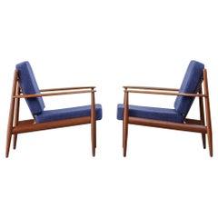 Pair of Lounge Chairs Grete Jalk Danish Teak