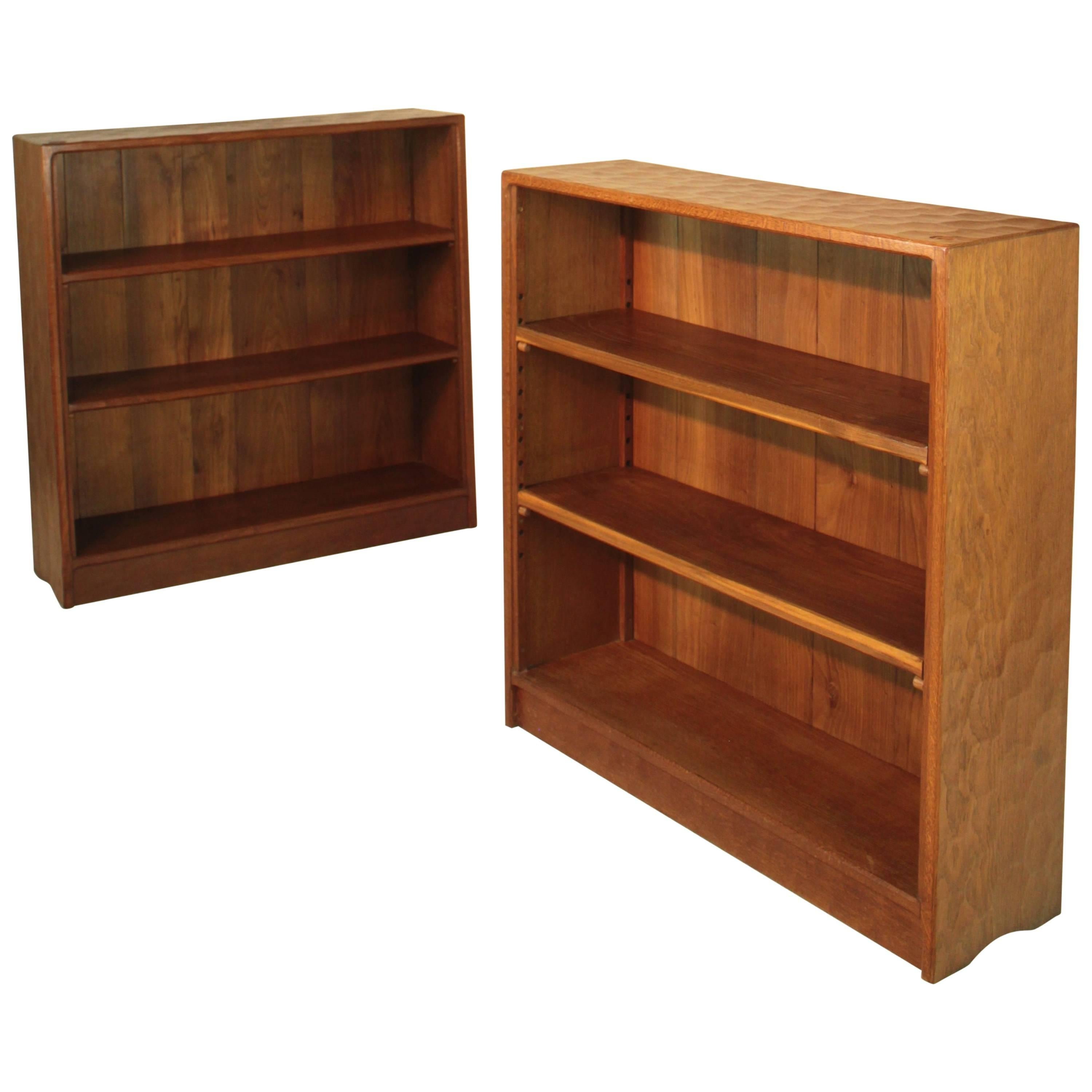 Antiques Antique Mahogany Waterfall Open Bookcase Bookshelves To Adopt Advanced Technology