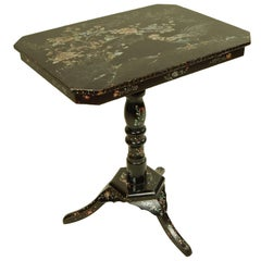 Antique Side Table with Mother-of-Pearl Inlay