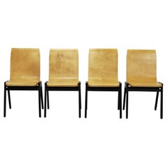 Stacking Chairs by Roland Rainer Austria, Set of Four