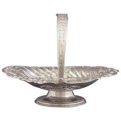 Victorian Sterling Silver Cake Basket